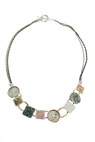 Multi-shape Mixed Metal Necklace