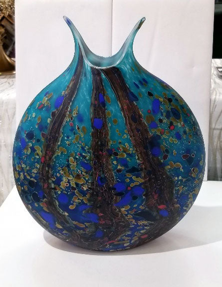 Ocean Forest Flat Vessel Glass Vase