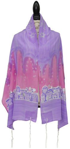Jerusalem Talit In Lavender And Pink