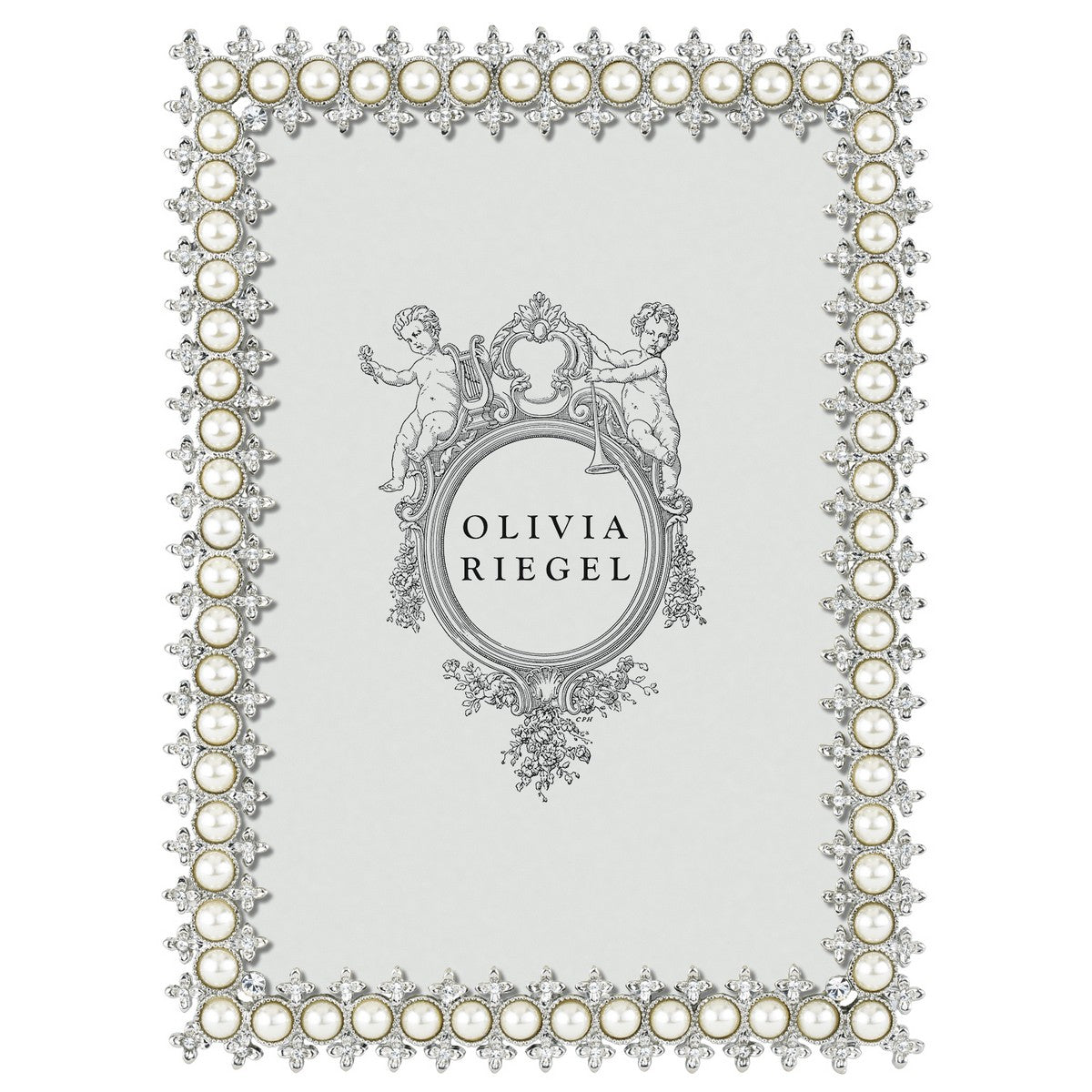 Swarovski Crystal and Pearl Frame - 5x7