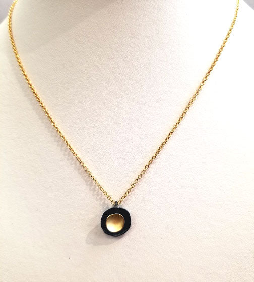 Two-tone Disc Necklace