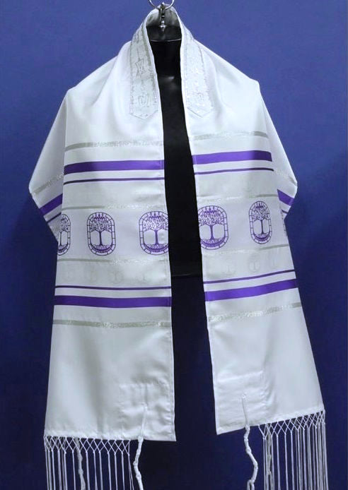 Tree Of Life Tallit And Bag - Violet