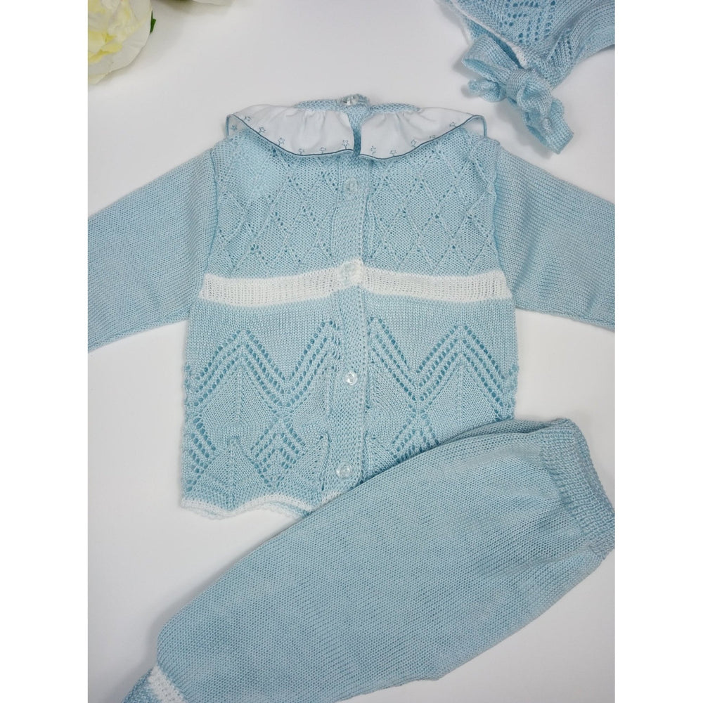 Baby Knitted Set Blue - Lala Kids