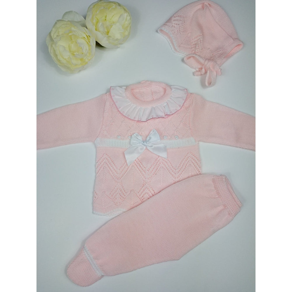 Baby Knitted Set Pink - Lala Kids