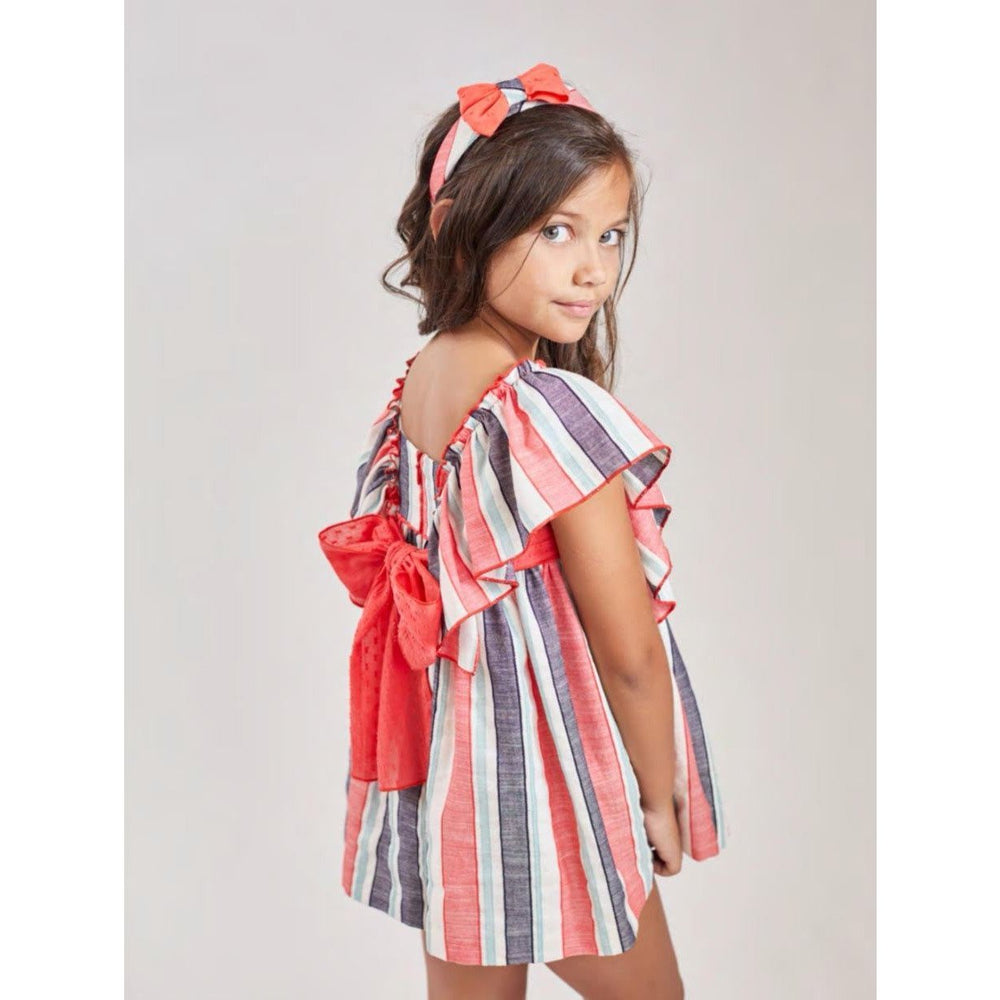 PRE ORDER Carmen Vazquez Striped Dress - Lala Kids