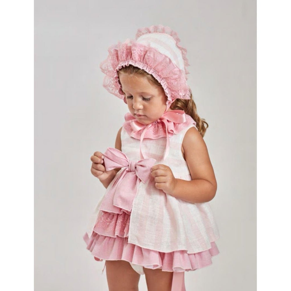 Baby Dress and Bonnet - Lala Kids