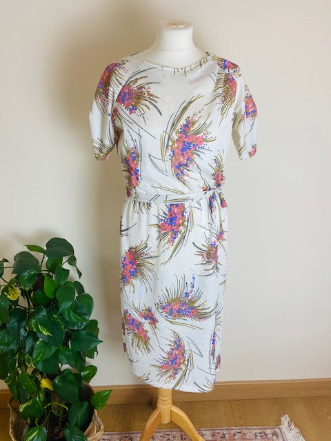 70s floral shift dress