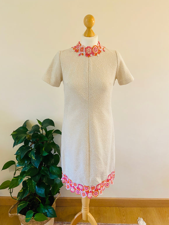 60's dress with floral boarder