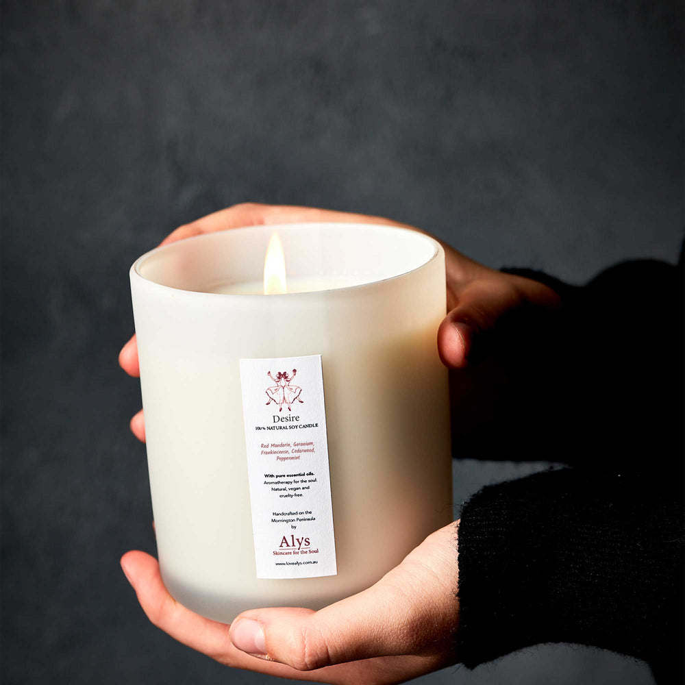 DESIRE Candle | 100% Natural Soy Wax Candle With Essential Oils