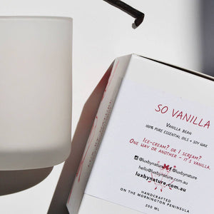 SO VANILLA Candle | 100% Natural Soy Wax Candle With Essential Oils