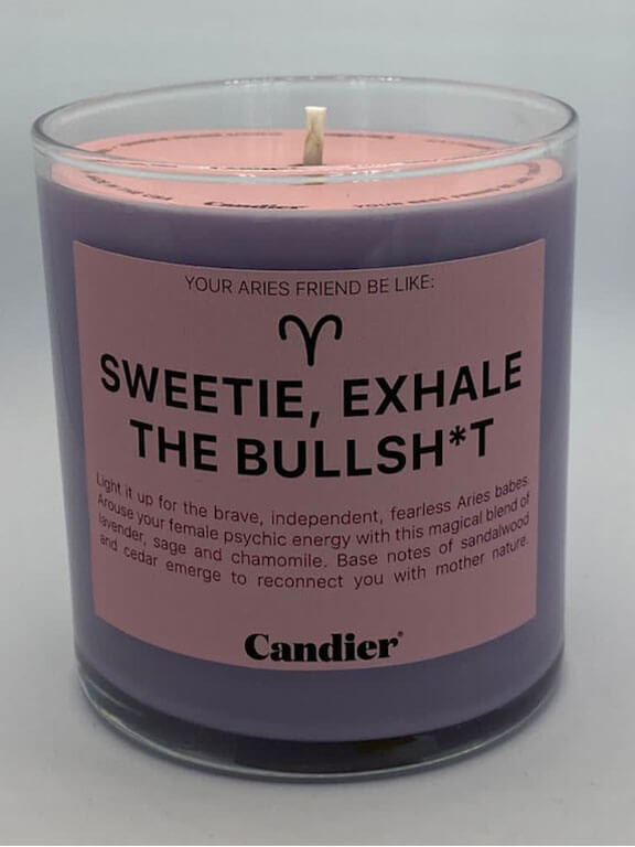 Sweetie, Exhale the Bulls**t Candle