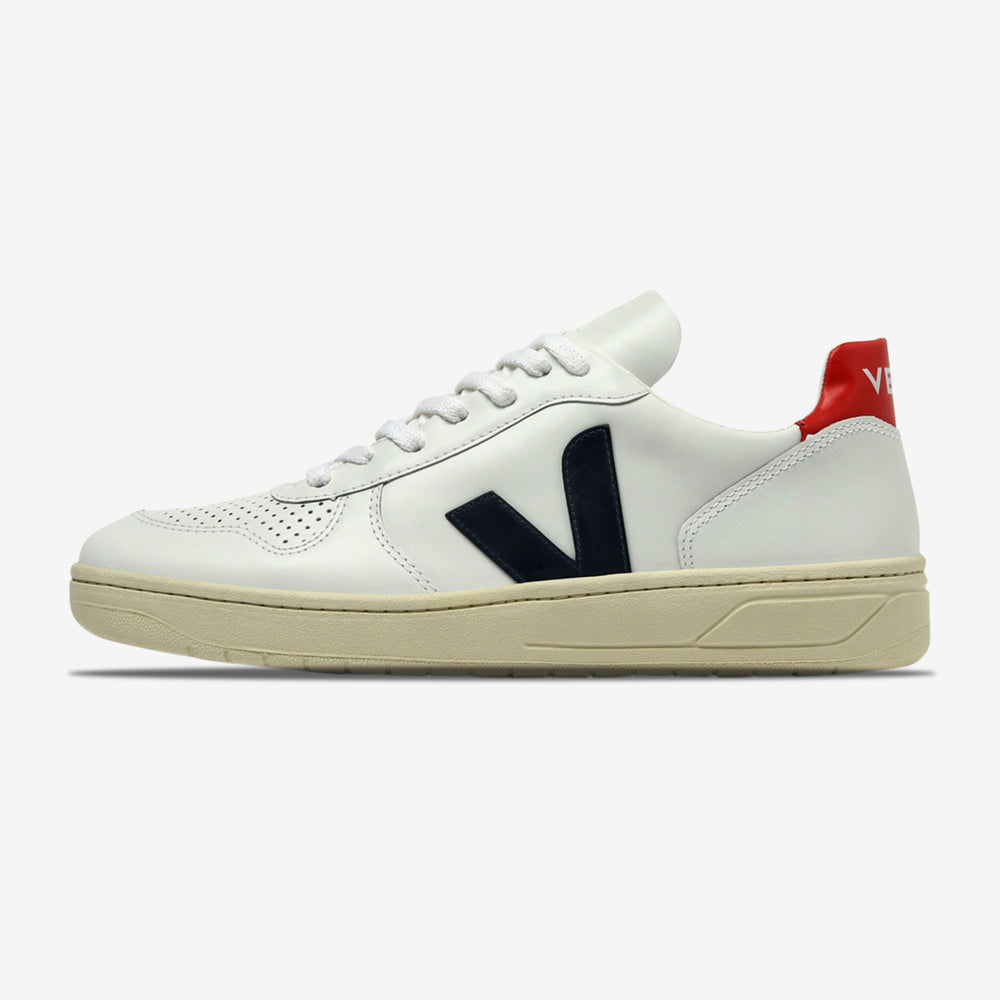 Veja-V-10 Leather-Extra White Nautico Pekin-VXM021267