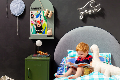 Growme Melbourne Wordbits lifestyle photo childs bedroom