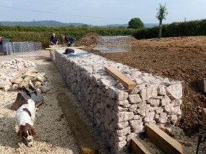 New gabion wall