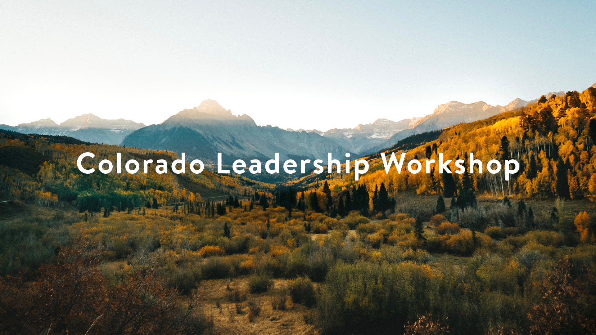 Colorado Leadership Workshop