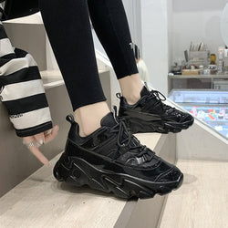 Shoes Women's Net Red Spring and Autumn New High Platform Sneakers Super Fire Shoes Sponge Cake Running Shoes