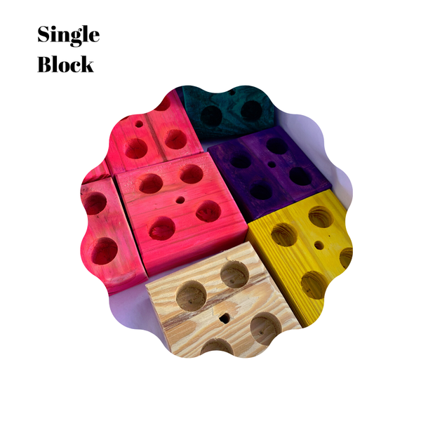 Single Forager Parrot Block