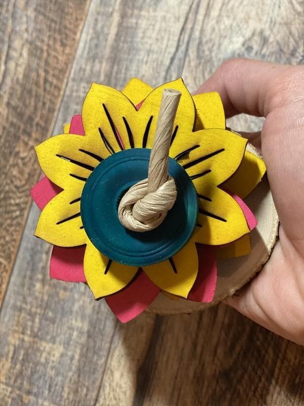 flower parrot foot toy