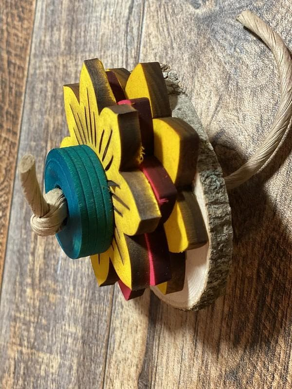 wood slice foot toy for parrots