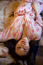 Load image into Gallery viewer, 40s Rayon Pink Floral Print Dressing Gown with Original Belt