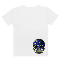 """Starry Skulliosis"" Women's Graphic Tee"