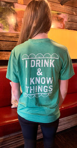 Unisex Rusted Spoke Small Spoke I Drink & I Know Things T-Shirt