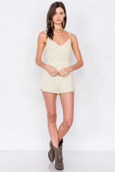 Boho Floral Mini Chic Casual Romper