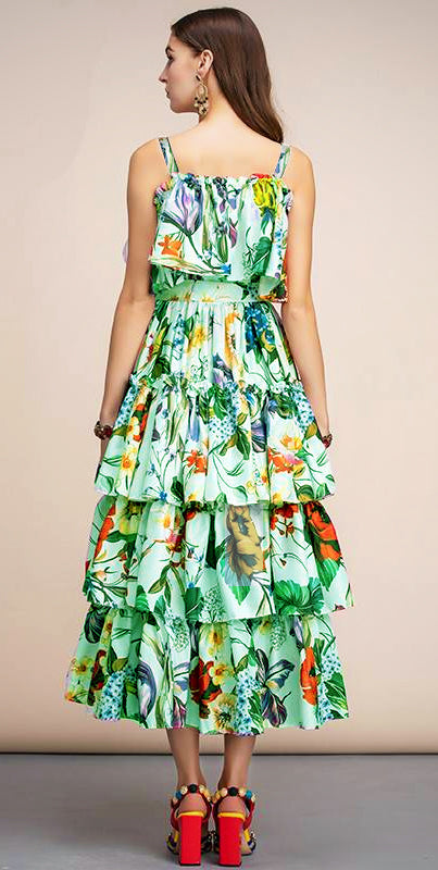 FLORAL SUMMER LONG DRESS