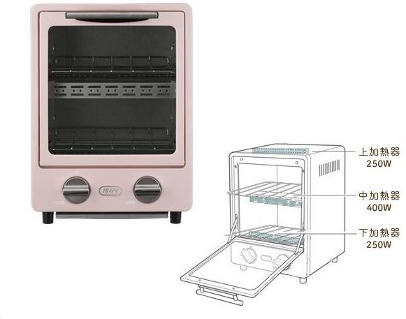 Toffy/ Oven Toaster/ Shell Pink