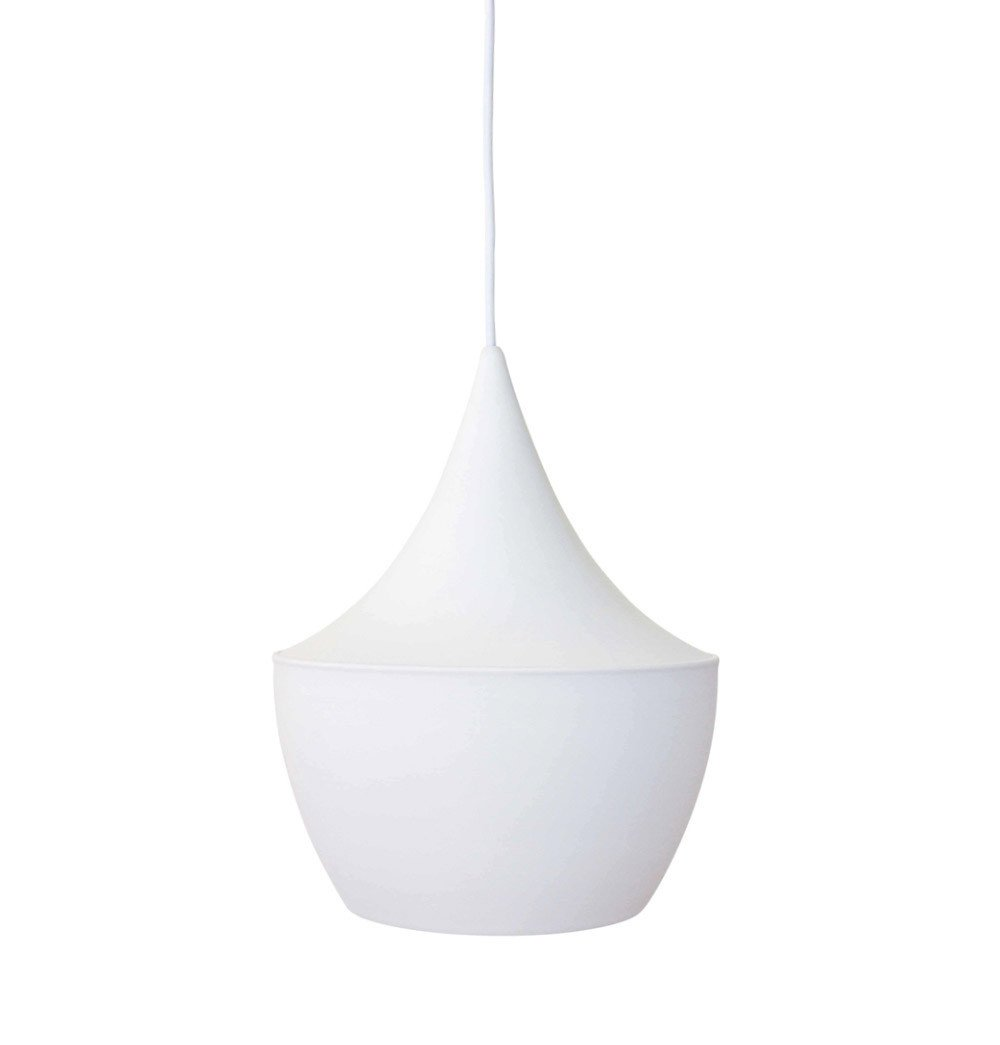 Beat Shade Fat Pendant Lamp - White - Reproduction