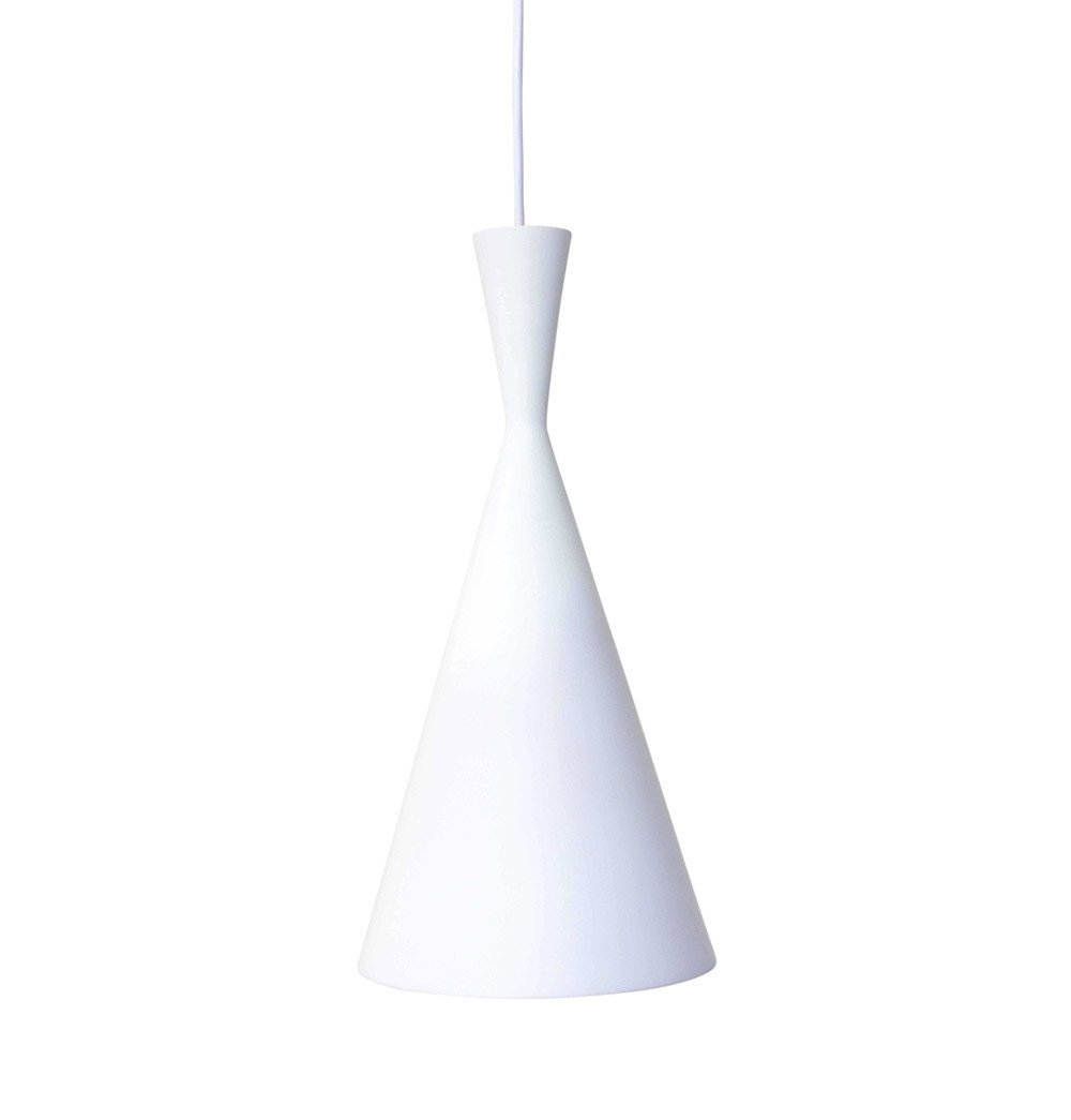 Beat Shade Tall Pendant Lamp - White -