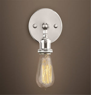 Factory Industrial Bare Bulb Filament Wall Lamp -