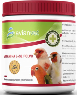 Avianvet Vitamin E With Selenium For Cage Birds & Parrot 125 gr - The Poultry coop