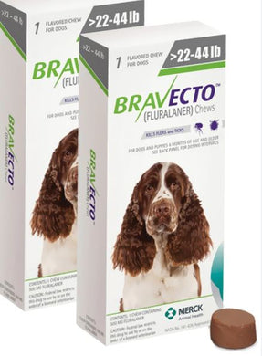 Bravecto 500 mg Medium 10-20 kg One Tablet 12 weeks Protection Anti Sticks & Fleas Free Shipping 2pcs - The Poultry coop