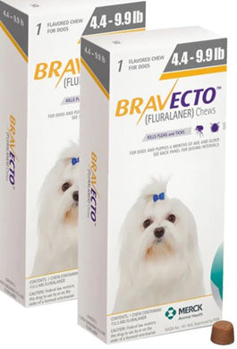 Bravecto 112,5 mg Extra Small 2-4 , One Tablet 12 weeks Protection Anti Sticks & Fleas Free Shipping 2Pcs - The Poultry coop