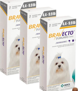 Bravecto 112,5 mg Extra Small2-4, One Tablet 12 weeks Protection Anti Sticks & Fleas 3 Pcs Free Shipping - The Poultry coop