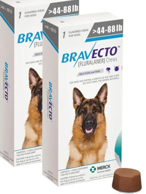Bravecto For Dogs 1000 mg Large 20-40 kg One Tablet 12 weeks Protection Anti Fleas & Ticks Free Shipping 2Pcs - The Poultry coop