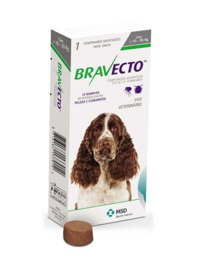 Bravecto 500 mg Medium 10-20 kg One Tablet 12 weeks Protection Anti Sticks & Fleas International Free Shipping - The Poultry coop