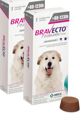 Bravecto for Dogs 1400 mg Extra Larg 40-56 kg One Tablet 12 weeks Protection Anti Fleas & Sticks Free Shipping 2Pcs - The Poultry coop