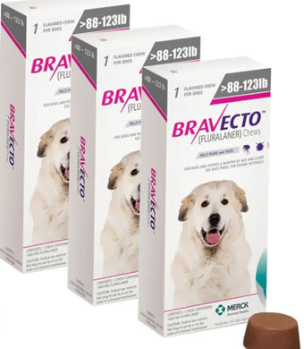 Bravecto for Dogs 1400 mg Extra Larg 40-56 kg One Tablet 12 weeks Protection Anti Fleas & Sticks 3 Pcs Free Shipping - The Poultry coop