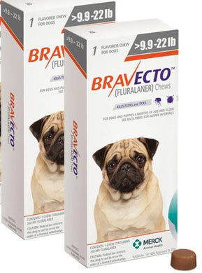 Bravecto for Dogs 250 mg Small 4-10 kg One Tablet 12 weeks Protection Anti Sticks & Fleas Free Shipping 2Pcs - The Poultry coop