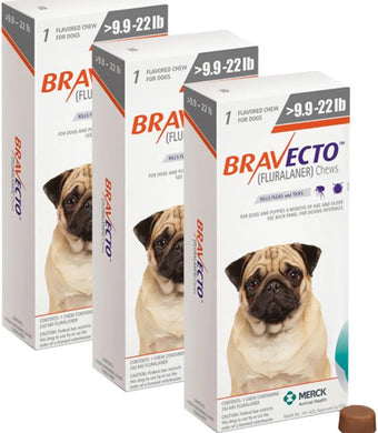 Bravecto for Dogs 250 mg Small 4-10 kg One Tablet 12 weeks Protection Anti Sticks & Fleas 3 Pcs Free Shipping - The Poultry coop