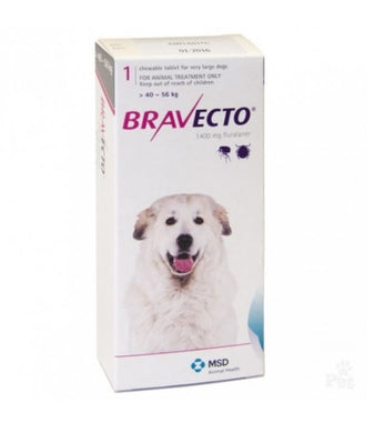 Bravecto for Dogs 1400 mg Extra Larg 40-56 kg One Tablet 12 weeks Protection Anti Fleas & Sticks International Free Shipping - The Poultry coop