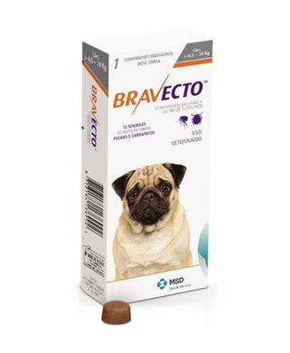 Bravecto for Dogs 250 mg Small 4-10 kg One Tablet 12 weeks Protection Anti Sticks & Fleas International Free Shipping - The Poultry coop