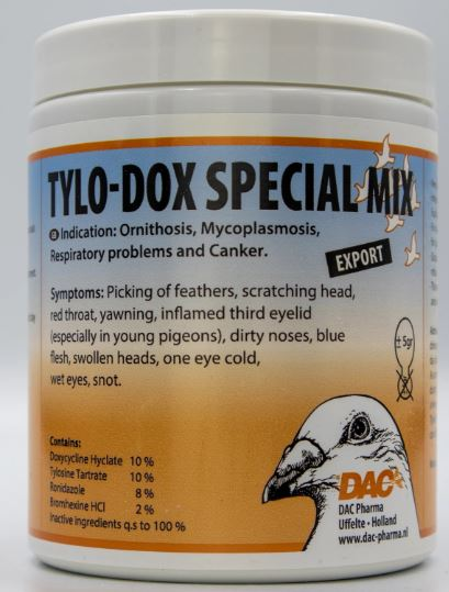 DAC Tylo-Dox Special Mix 100gr 4 in 1 Extra Strong Treatment Pigeons Poultry Birds - The Poultry coop