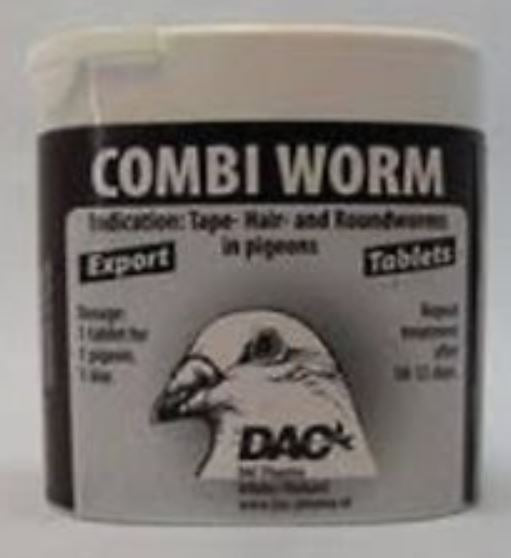 Dac Combi Worm Tabs 50 Pills For Hair & Roundworm Pigeons Poultry - The Poultry coop