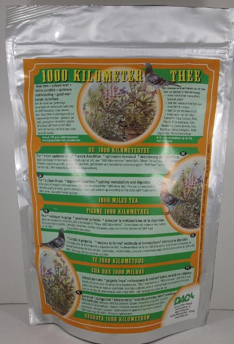 Dac 1000 miles tea 300g Natural Preparation For Racing Pigeon - The Poultry coop