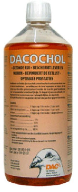 Dac Dacochol 1 Litre Protects Liver & Kidneys Pigeons Poultry Birds - The Poultry coop