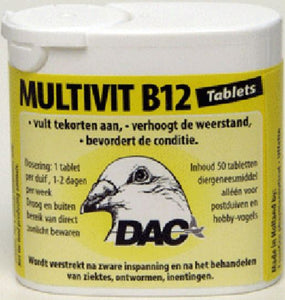 Dac Multivit B12 50 tablets For Racing Pigeons Poultry - The Poultry coop