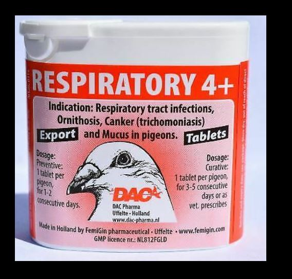 Dac Respiratory 4+ 50 Tabs For Racing Pigeon & Poultry - The Poultry coop